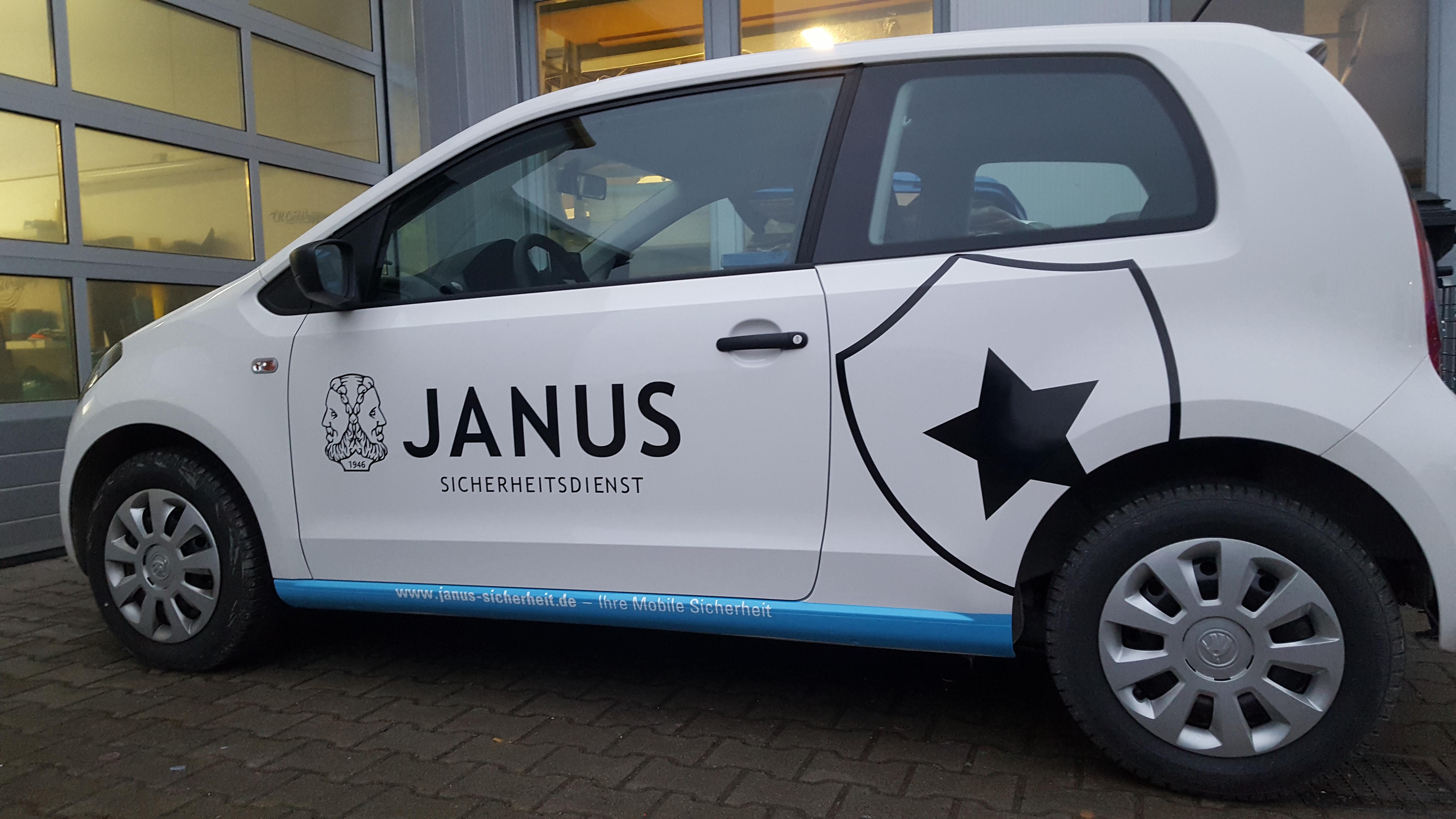 Janus sicherheitsdienst werbebeschriftung