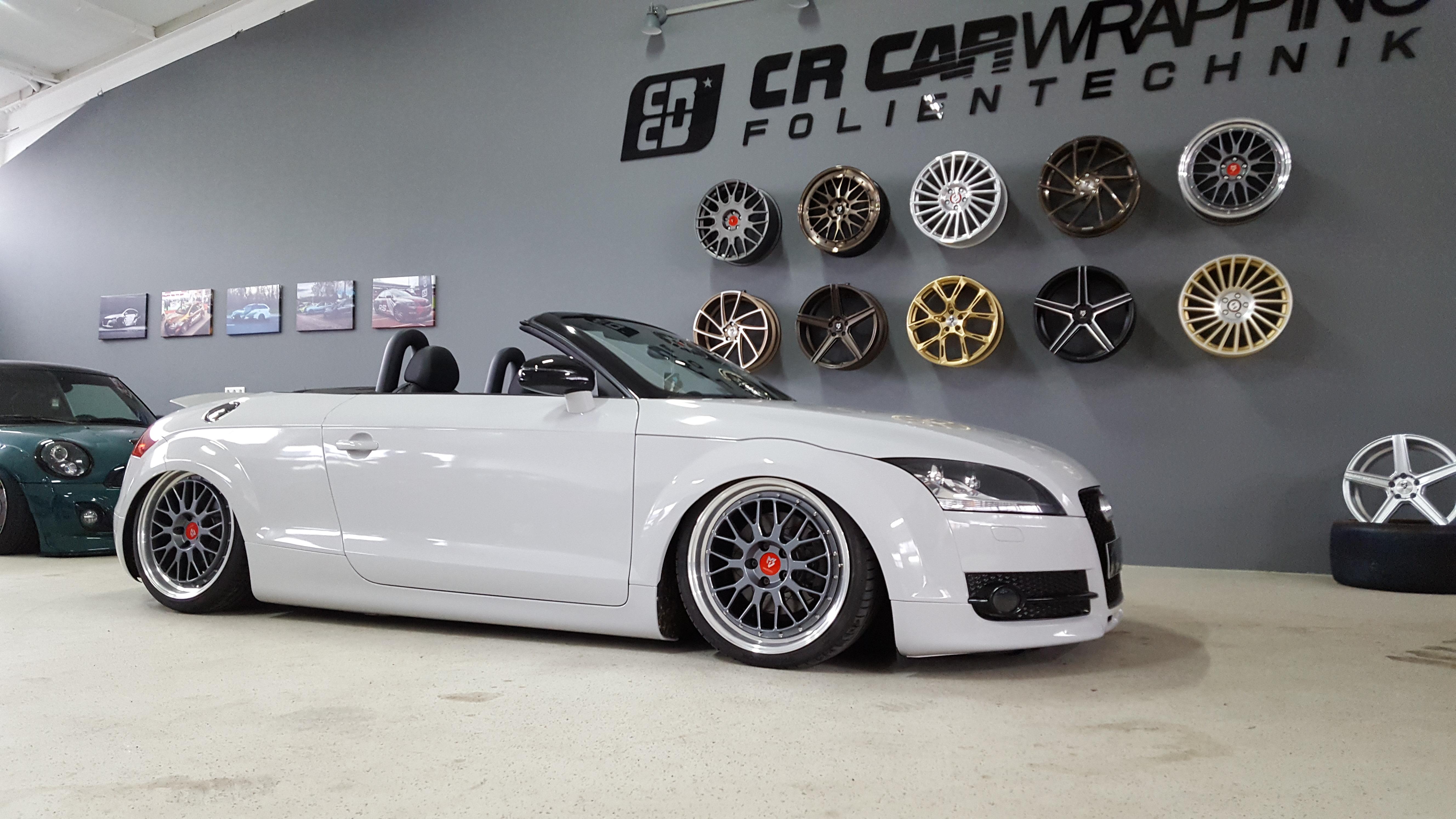 Audi TT Vollfolierung weiß folierung würzburg