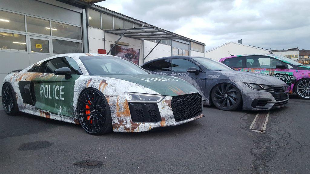 Audi R8 Folierung Police design