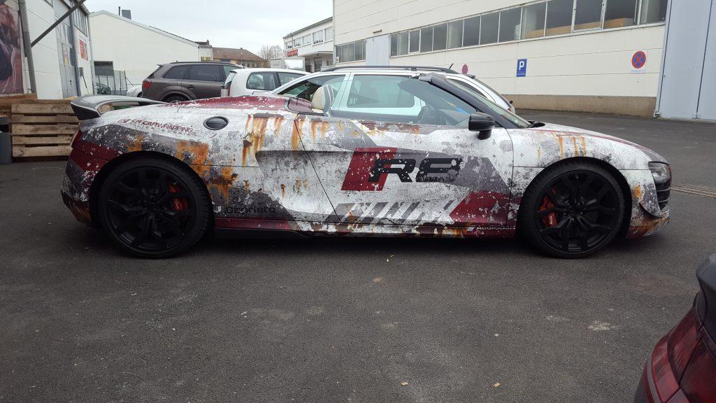 Audi R8 used look folie