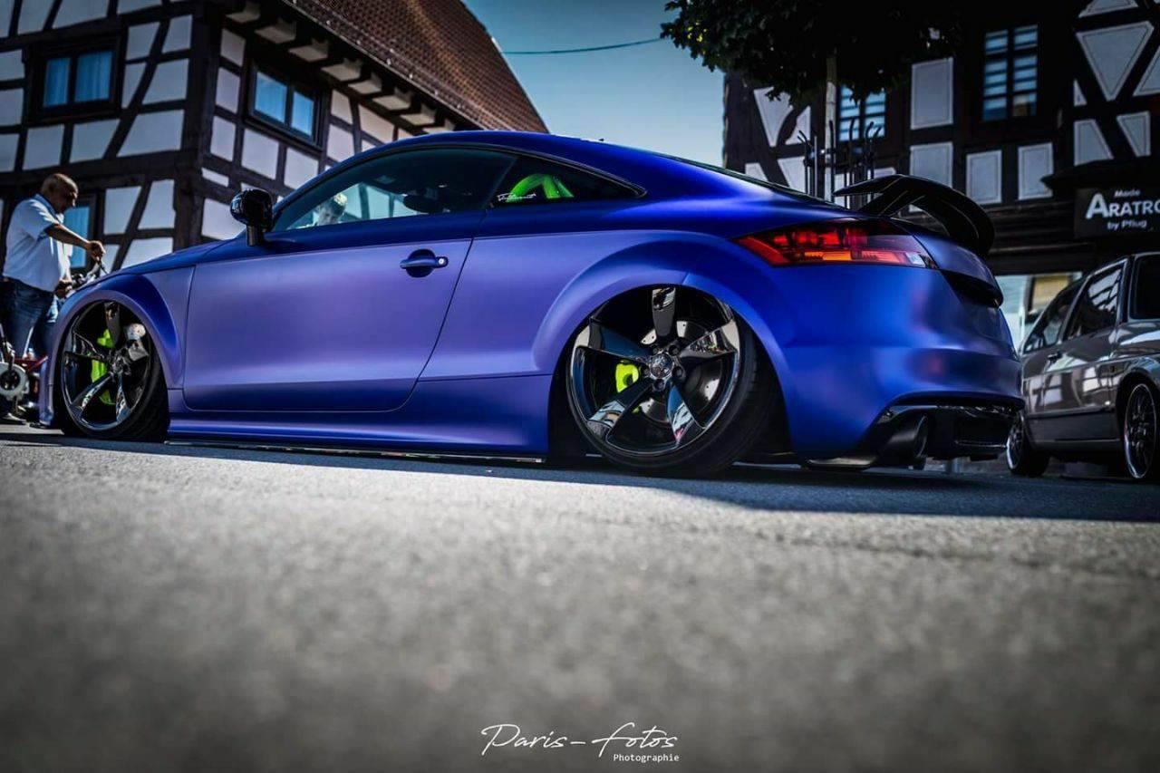 folierung würzburg Audi TT Folierung matt blau