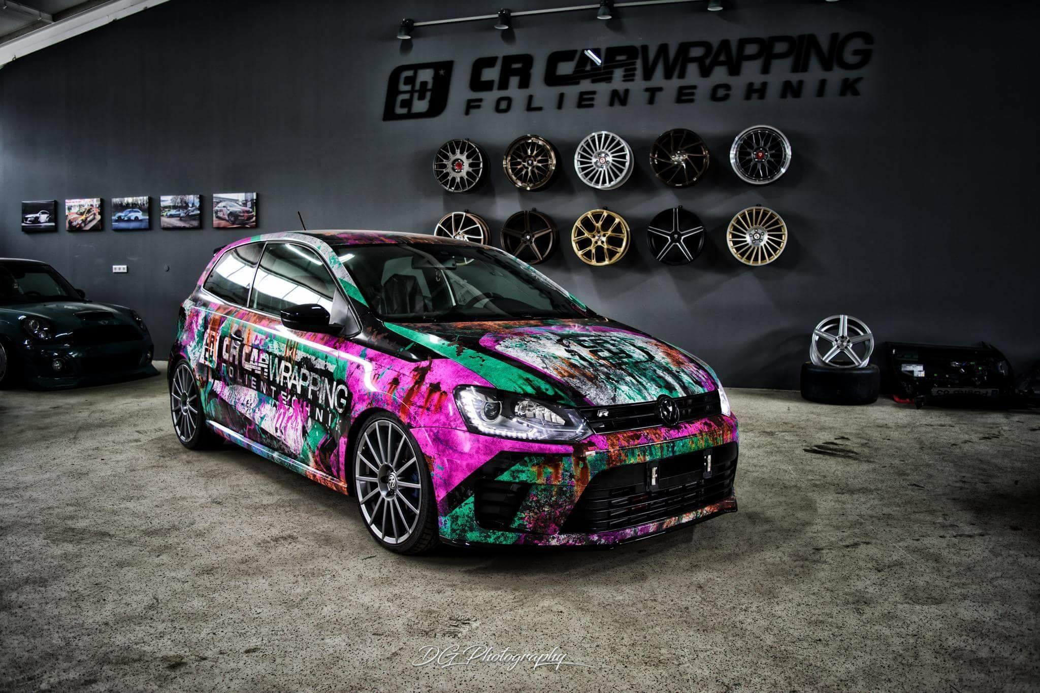 VW Polo Folierung Designfolierung