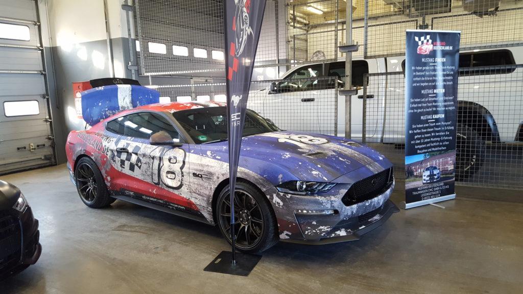 Ford Mustang GT Digitaldruck Komplettfolierung folierung würzburg