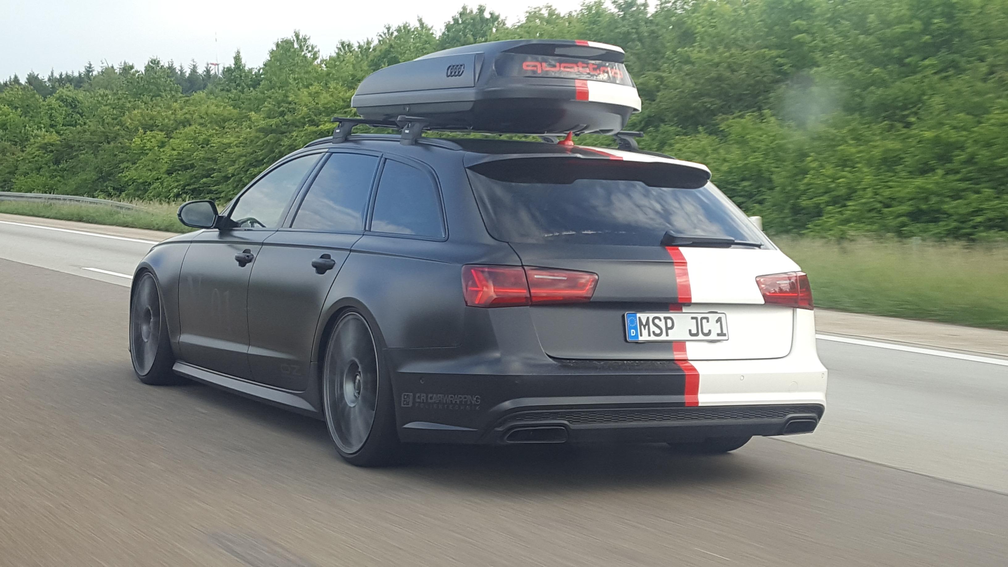 Audi A6 Komplettfolierung Satin schwarz satin weiß