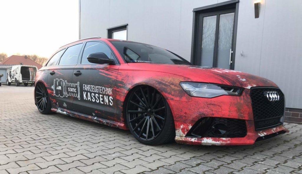 Audi RS6 Digitaldruck Komplettfolierung folierung würzburg