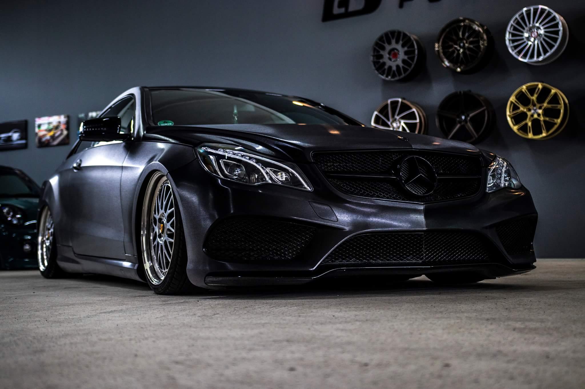 Mercedes E-Coupe Komplettfolierung folierung würzburg