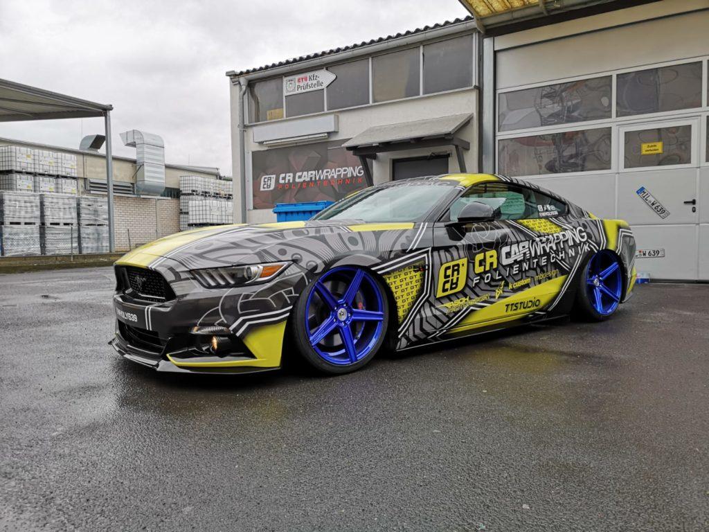 Ford Mustang GT Digitaldruck, Designfolierung in würzburg