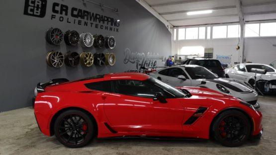 Corvette Grand Sport Folierung Rot Würzburg