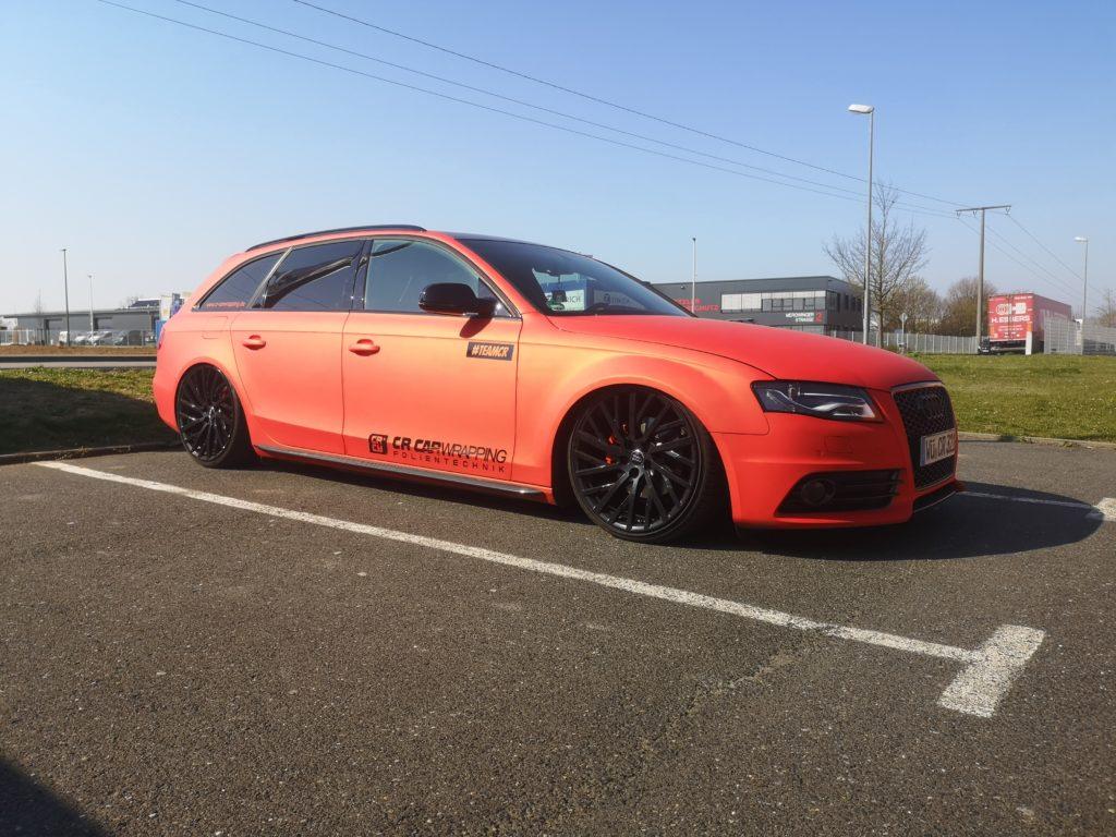 Audi A4 Komplettfolierung Inferno Red
