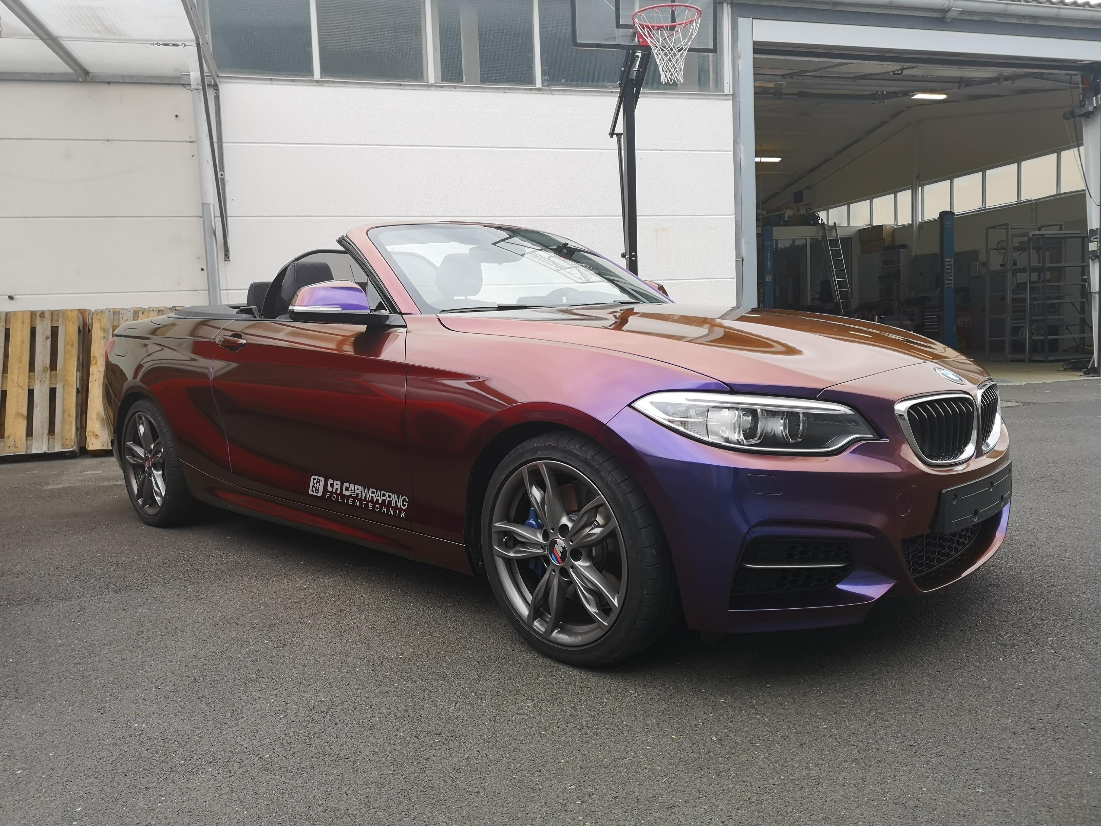 BMW M240i Cabrio Komplettfolierung Colourflow
