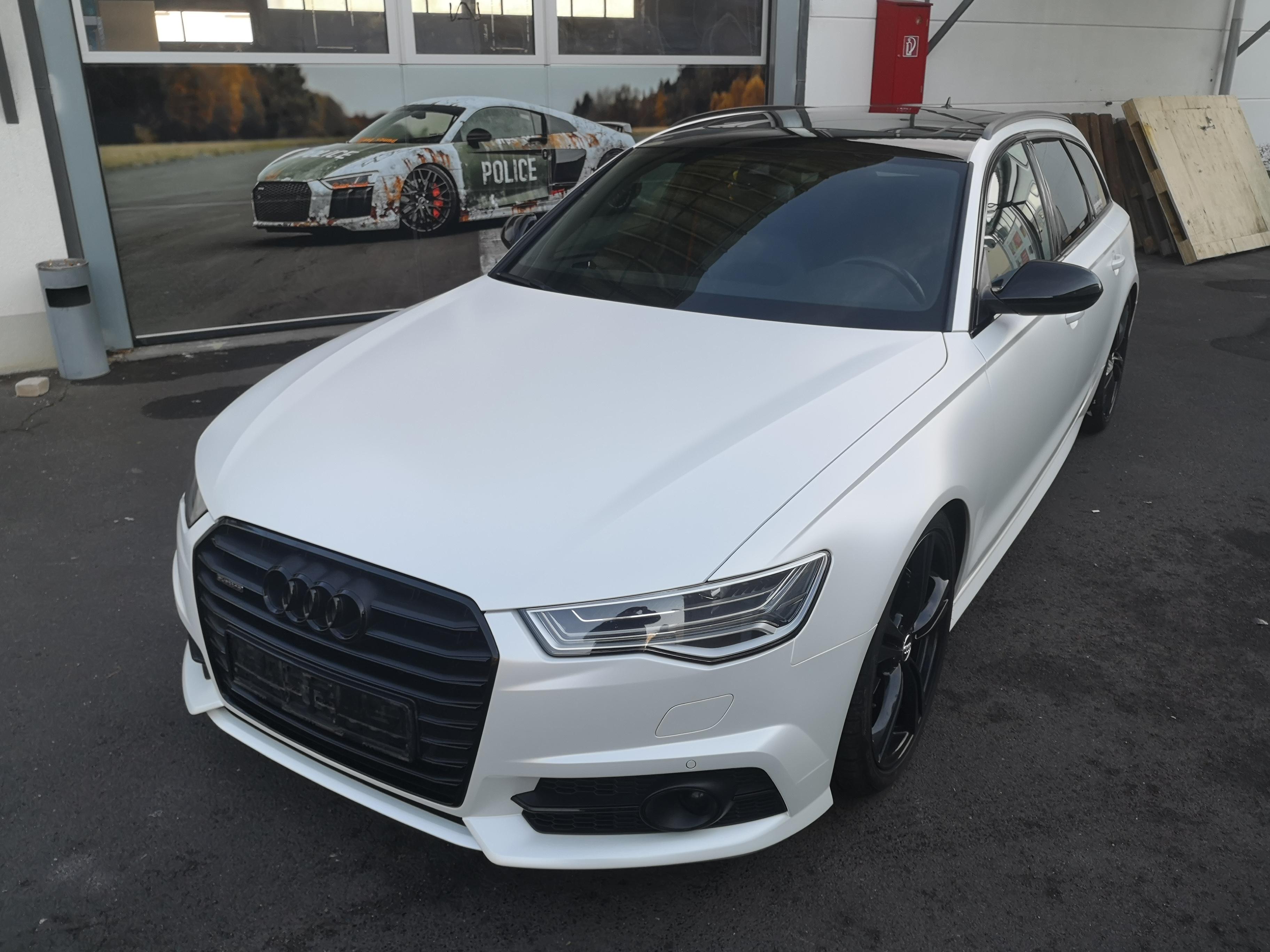 Audi A6 4G Avant Komplettfolierung in Satin Pearl White